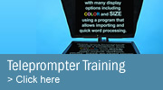 Teleprompter training